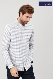 Joules White Welford Classic Long Sleeve Shirt