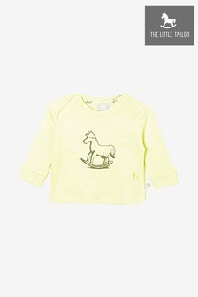 The Little Tailor Lemon Rocking Horse Jersey Top