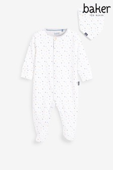 Baker by Ted Baker Boys Sleepsuit With Bib