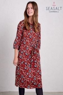 Seasalt Red Wild Garden Dress