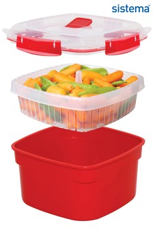 Sistema Microwave Food Steamer And Food Carrier