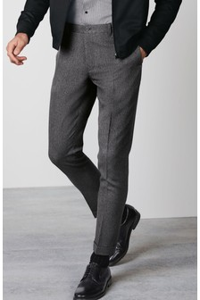 Herringbone Tapered Trousers