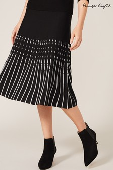 Phase Eight Black Amayah Fit And Flare Skirt