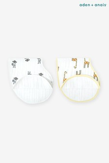 aden + anais White Burpy Bibs Two Pack