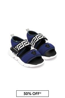 Versace Kids Navy Sandals