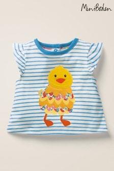 Boden Blue Pretty Appliqué T-Shirt
