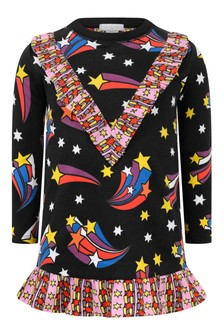 Girls Black Fleece Shooting Stars Dress