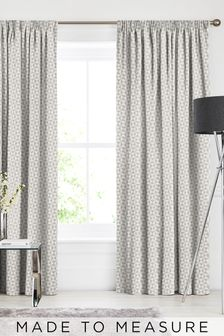 Monde Graphite Natural Made To Measure Curtains
