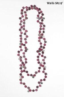 White Stuff Purple Verity Versatile Disc Necklace