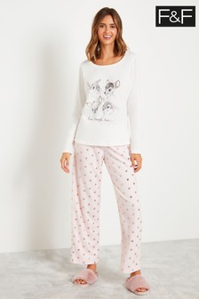 F&F Multi Bambi Pyjamas Pack