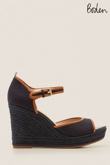 Boden Blue Philippa Espadrille Wedges