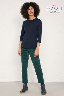 Seasalt Green Crackington Trousers