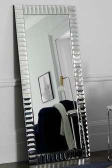 Glass Domino Floor Mirror