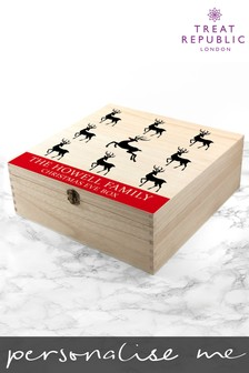 Personalised Reindeer Christmas Eve Box by Treat Republic