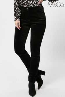 M&Co Slim Leg Cord Trousers