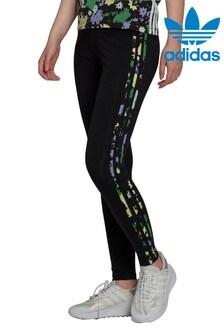 adidas Originals Black RYV 3 Stripe Leggings