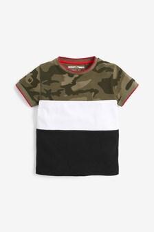 Camo Colourblock Pique T-Shirt (3mths-7yrs)