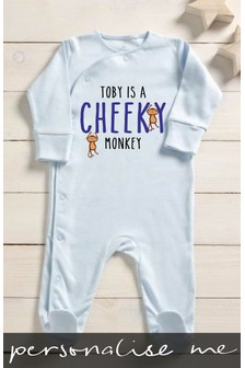 Personalised Cheeky Monkey Sleepsuit
