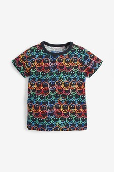 Short Sleeve Smiley Faces T-Shirt (3mths-7yrs)