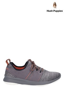 Hush Puppies Grey Geo BounceMax Lace-Up Trainers