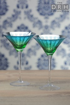 2 Pack Cocktail Glasses By The DRH Collection