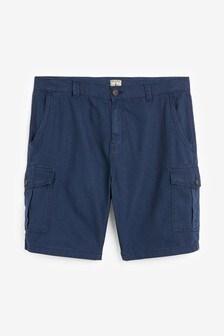 Linen Blend Cargo Shorts