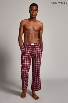 Jack Wills Damson Blakebrook Flannel Lounge Pants