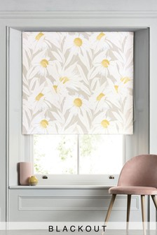 Daisy Print Blackout Roller Blind