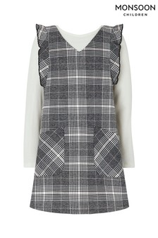 Monsoon Grey Colette Check Dress And Top