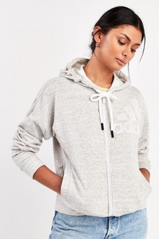 adidas Melange Zip Through Hoody