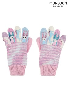 Monsoon Purple Pastel Magical Unicorn Novelty Gloves