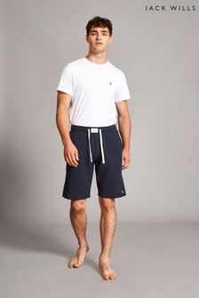 Jack Wills Navy Stobhill Textured Lounge Shorts