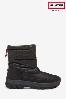 Hunter Original Black Insulated Short Snow Boots