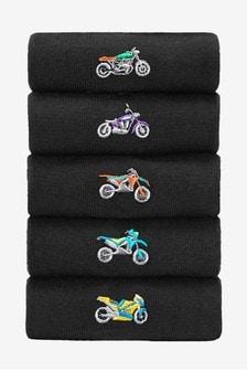 Motorbike Socks Five Pack