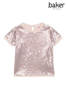 baker by Ted Baker Pale Pink Sequin Top
