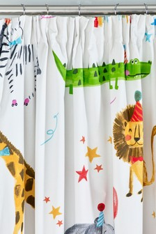 Party Animals Pencil Pleat Blackout Curtains
