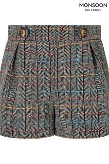 Monsoon Brown Cecilia Check Shorts