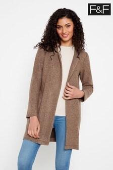 F&F Camel Snit Coat