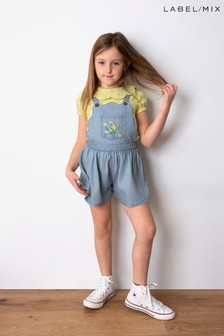 Mix/Alice Archer Embroidered Dungaree Shorts