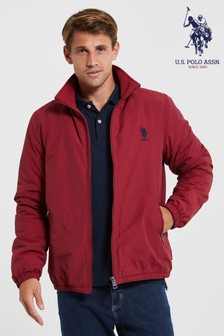 U.S. Polo Assn. Red Quilted Inner Funnel Jacket