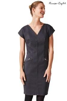 Phase Eight Grey Delmar Denim Dress