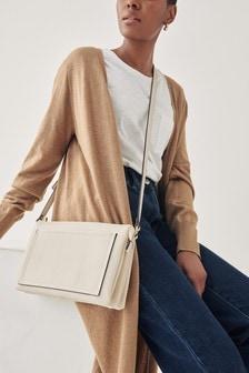 Leather Look Across Body Bag
