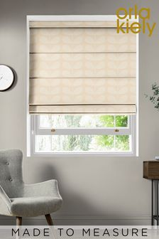 Jacquard Stem Cream Made To Measure Roman Blind by Orla Kiely