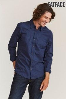 FatFace Blue Slim Hove Plain Shirt