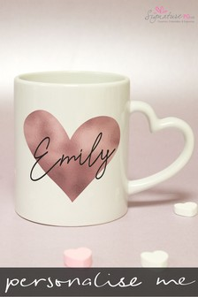 Personalised Heart Handled Mug by Signature PG