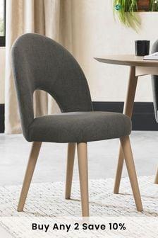Set of 2 Dansk Scandi Upholstered Dining Chair by Bentley Designs