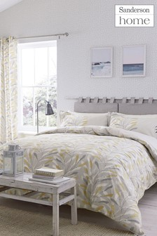 Sanderson Home Sea Kelp Leaf Cotton Duvet Cover