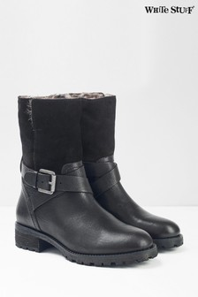 White Stuff Black Blair Biker Boots