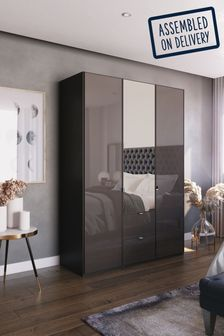 Monroe Three Door Wardrobe With Mirror