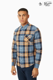 Original Penguin® Long Sleeve Jaspe Roadmap Check Shirt